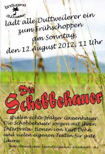 10. -14. August 2014 Weinfest Flyer Landjugend